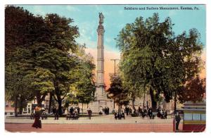 Easton PA 1907-15 Civil War Soldiers and Sailors Monument Center Square Postcard