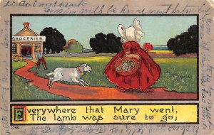 Everywhere that Mary went the lamb was sure to go Bonnets PU 1907