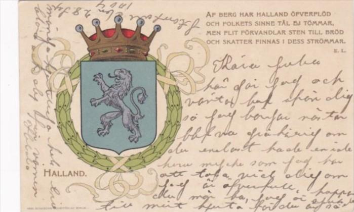 Netherlands Holland Halland Coat Of Arms 1904