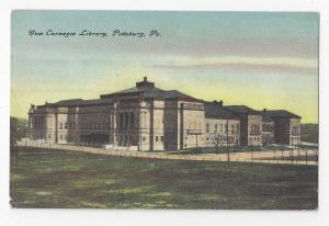 Pittsburg PA New Carnegie Library Vintage ca 1908 Unused Postcard