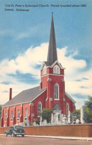 Lewes Delaware Old St Peter's Episcopal Church Vintage Postcard AA39433