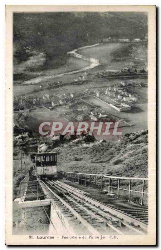 Postcard Old Funicularie Lourdes Pic du Jer