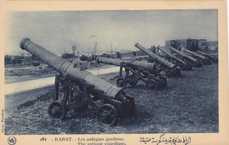 RABAT (Maroc), Morocco, 10-30s; The Antique guardians, Cannons
