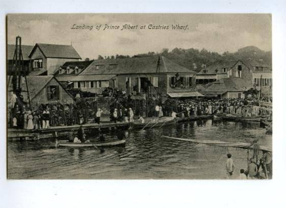 144576 SAINT LUCIA Landing of Prince Albert of Castries Wharf