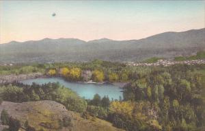 Vermont Wallingford Elfin Lake Hancolored Albertype