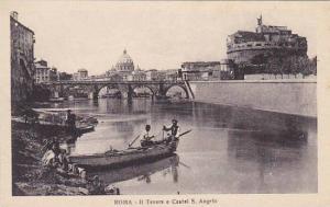 Italy Roma Rome Il Tevere e Castle San Angelo