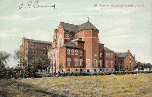 Hospitals Post Card St Francis Hospital Trenton, New Jersey, USA Postcard Wri...