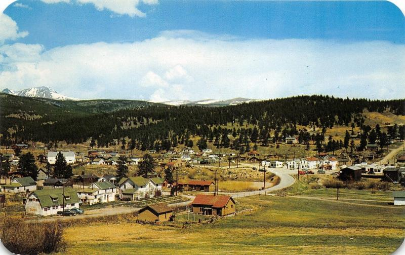 Nederland Colorado Panoramic Bird's Eye View~Boulder County~1950s Postcard
