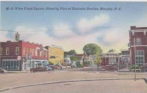 North Carolina Murphy View From Square Shhowing Part Of Business Section