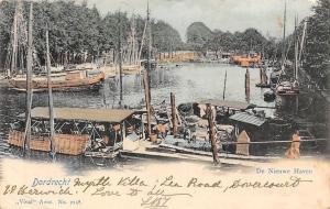 Netherlands Dordrecht, De Nieuwe Haven, Ships, Boats 1902