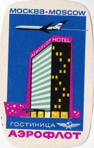 Russia Moscow Aeroflot Hotel Vintage Luggage Label sk1451