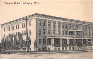 Stearns Hotel, Ludington, Michigan, Early Postcard, Used in 1910