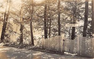 Tyson Vermont Echo Lake Inn Entrance Real Photo Antique Postcard K88268