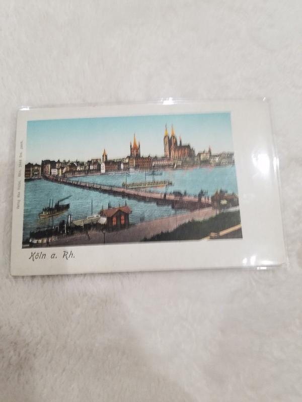 Antique Postcard, Koln a Rh.