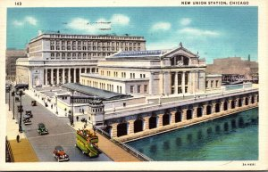 Illinois Chicago New Union Station 1935 Curteich
