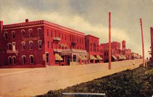 Milbank South Dakota Main Street Scene Historic Bldgs Antique Postcard K93637