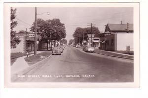 Real Photo, Main Street, Cars, Drugstore, Tavern, Belle River, Ontario,