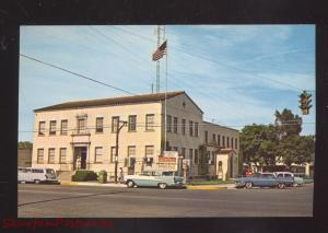HOBBS NEW MEXICO DOWNTOWN STREET SCENE CITY HALL 1950's CARS VINTAGE POSTCARD