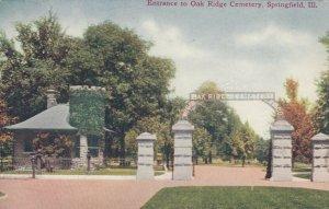 SPRINGFIELD , Illinois, 1900-10 ; Entrance to Oak Ridge Cemetery