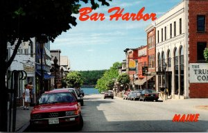Maine Bar Harbor Main Street Looking North