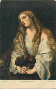 Art postcard Guido Reni - Holy Magdalena