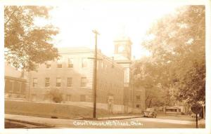 Mt Gilead Ohio Court House Real Photo Antique Postcard K81441