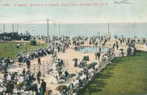 Ontario Beach Amusement Park on Summer Afternoon Charlotte Rochester New York