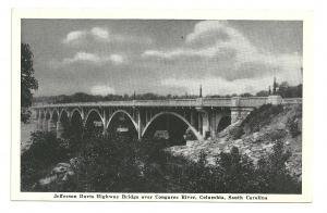 Jefferson Davis Highway Bridge Over Cogaree River,Columbia, South Carolina RPPC