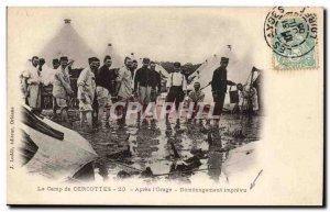Old Postcard Loiret camp CERCOTTES After the & # 39orage Demenagement imprevu...