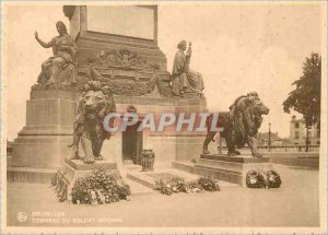 Postcard Modern Brussels Tomb of the Unknown Soldier Lion