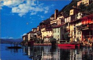 Switzerland Gandria Lago di Lugano Lake Boat