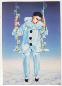 P624 JLs pierrot on swing by robson at meiklejohn illustrated