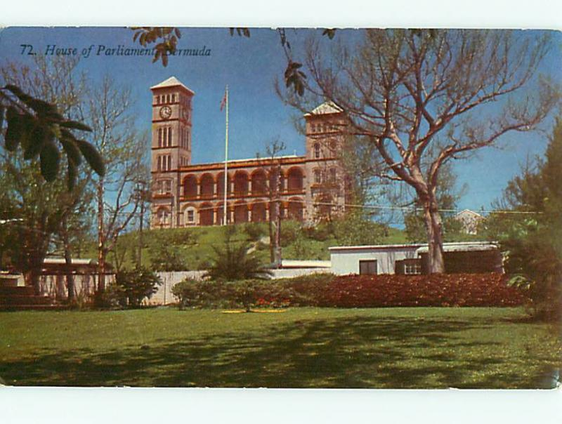 Vintage Post Card 72 House of Parliment Bermuda Caribbean  # 3713