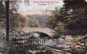 WASHINGTON DC ROCK CREEK PK~ARCHED BOULDER BRG ~B S REYNOLDS PUBL POSTCARD 1910