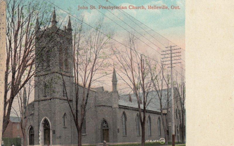 BELLEVILLE, Ontario, Canada, PU-1912; John St. Presbyterian Church
