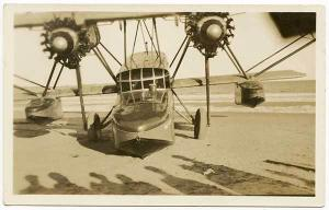 Old Orchard ME Mrs Grayson The Dawn Women Aviator 1927 RPPC Real Photo Postcard