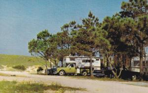 Port St. Joe, Florida, 50-60s ; Camping at St. Joseph's State Park, Truck and Ca