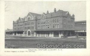 RR Station, Concord, NH, New Hampshire, USA Train Railroad Station Depot Post...
