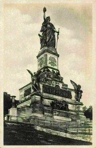 Das Nationaldenkmal auf den Diederwald Monument Statues Postcard
