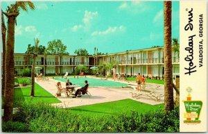 Valdosta, Georgia Postcard HOLIDAY INN MOTEL Pool Interstate 75 Roadside 1960s
