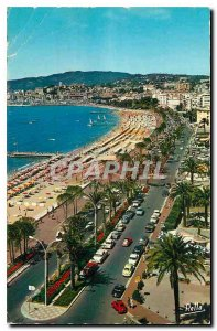 Old Postcard The French Riviera Cannes M Panoramic view on the Croisette prom...