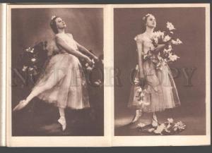 090521 ULANOVA Russian BALLET Star GISELLE Old 6 PHOTO booklet