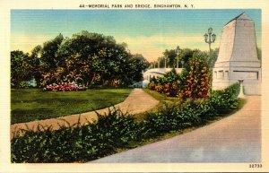 New York Binghamton Memorial Park and Bridge