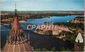 Modern Postcard View from the Balcony Peace Tower Ontario Canada
