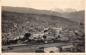 La Paz Bolivia Birds Eye View Real Photo Antique Postcard J80481