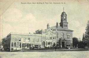 25561 NH, Claremont, Farwells Block, Bank Building and Town Hall