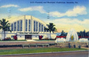 [ Linen ] US Florida Sarasota - Fountain And Municipal Auditorium