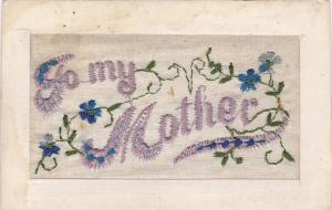 EMBROIDERED: To my Mother, Forget-Me-Not Flowers, 00-10s