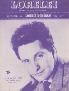 Lorelei Lonnie Donegan 1960s Sheet Music
