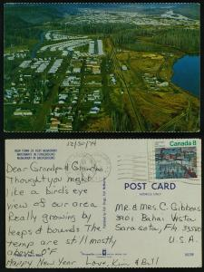 New town of Fort McMurray Alberta postmarked 1974